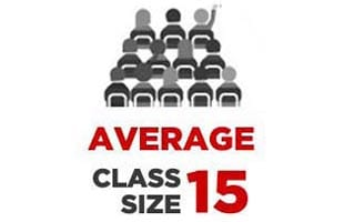 Infographic - Average class size 15