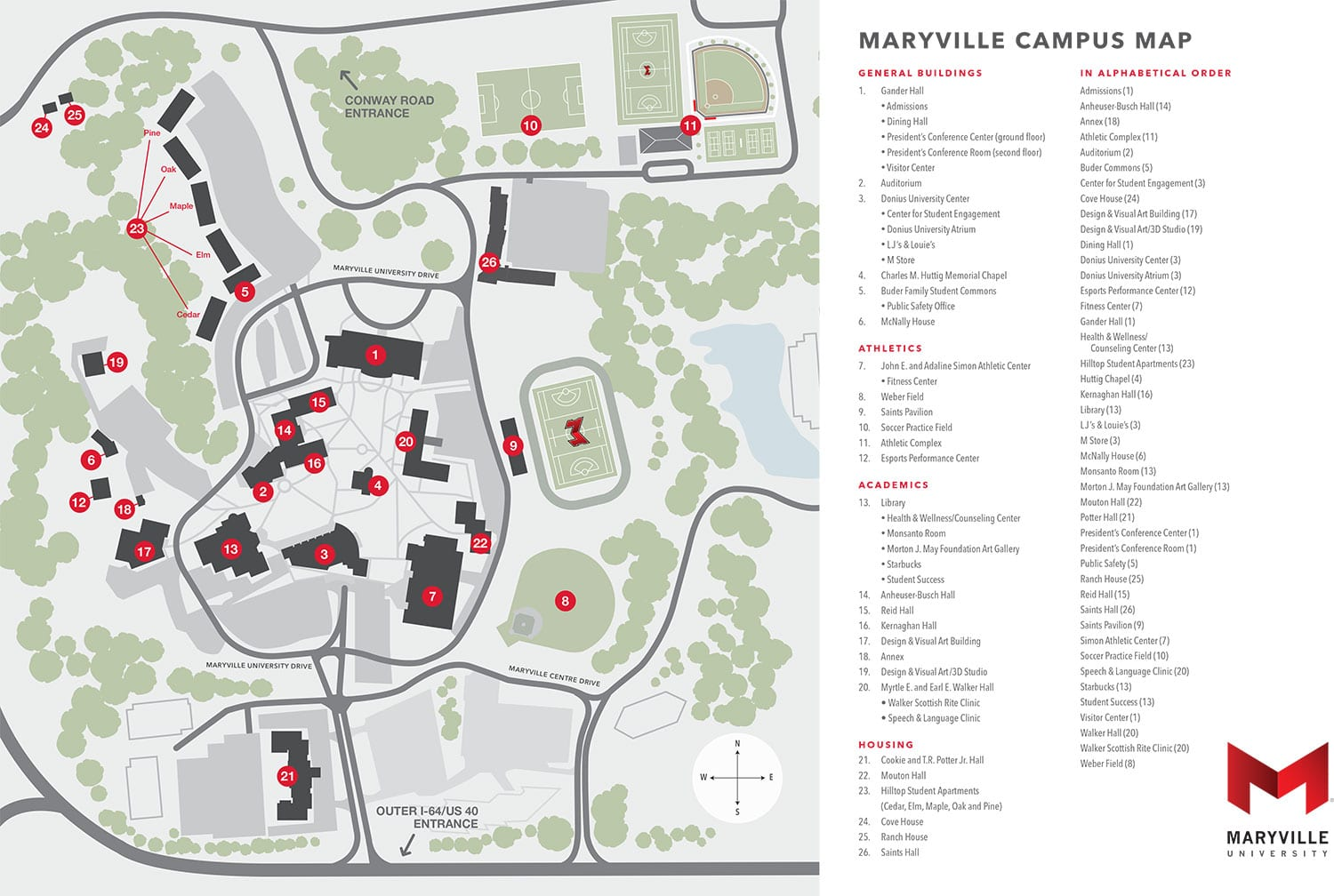Maryville University Campus Map