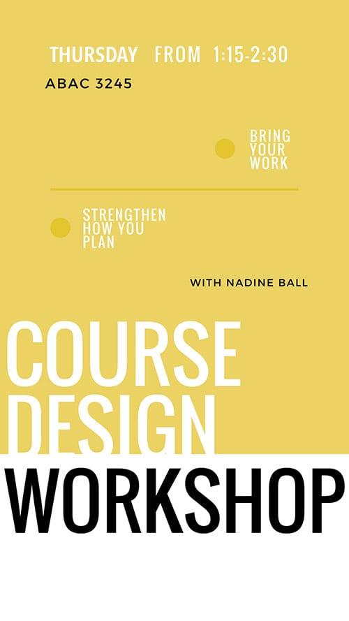 course design workshop poster