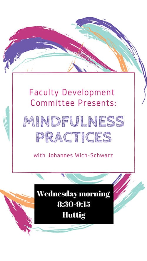 mindfulness practices poster