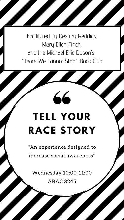 race story wednesday poster