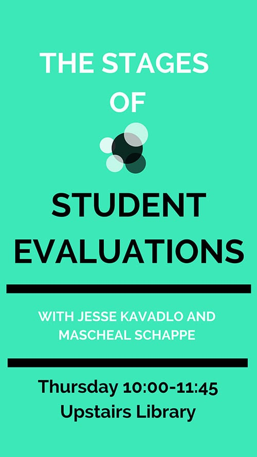 student evaluation poster