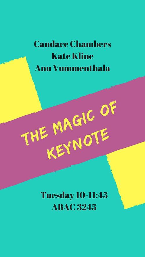 magic of keynote poster