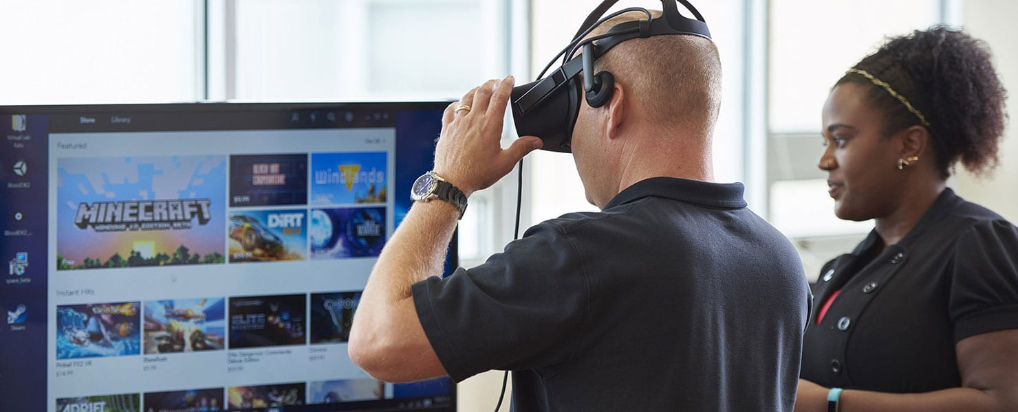 faculty learning with vr equipment