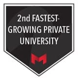 2nd fastest growing university in the U.S.