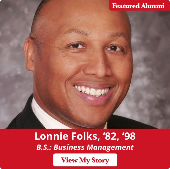 Maryville University alum Lonnie Folks, '89, '98