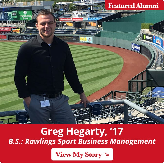 Maryville alum Greg Hegarty, '17