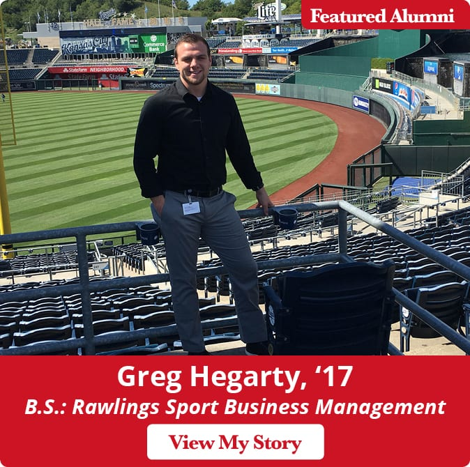 Maryville alum Greg Hegarty, '17