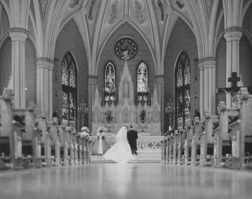 Bride and Groom in the chapel