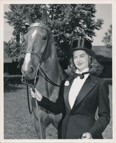Madonna Buder, SFCC with her horse Wally Highland in June 1948
