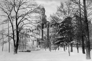 Maryville College Administration Building in winter