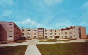 Postcard from new Maryville West County campus in 1961