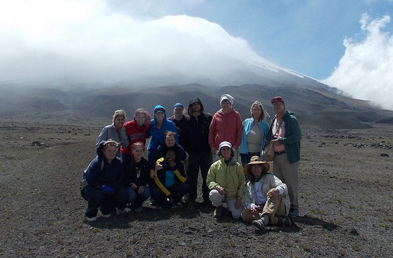 Maryville University biology students at Galapagos Islands during study abroad trip