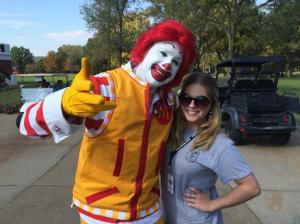 Lauren St. John interning with the Ronald McDonald House Charities.
