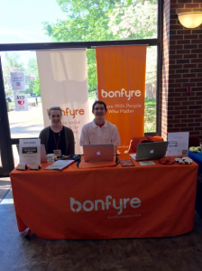 Evan Asher interning at Bonfyre.