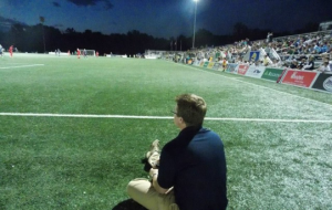 Andrew Mandziara interning at St. Louis FC.