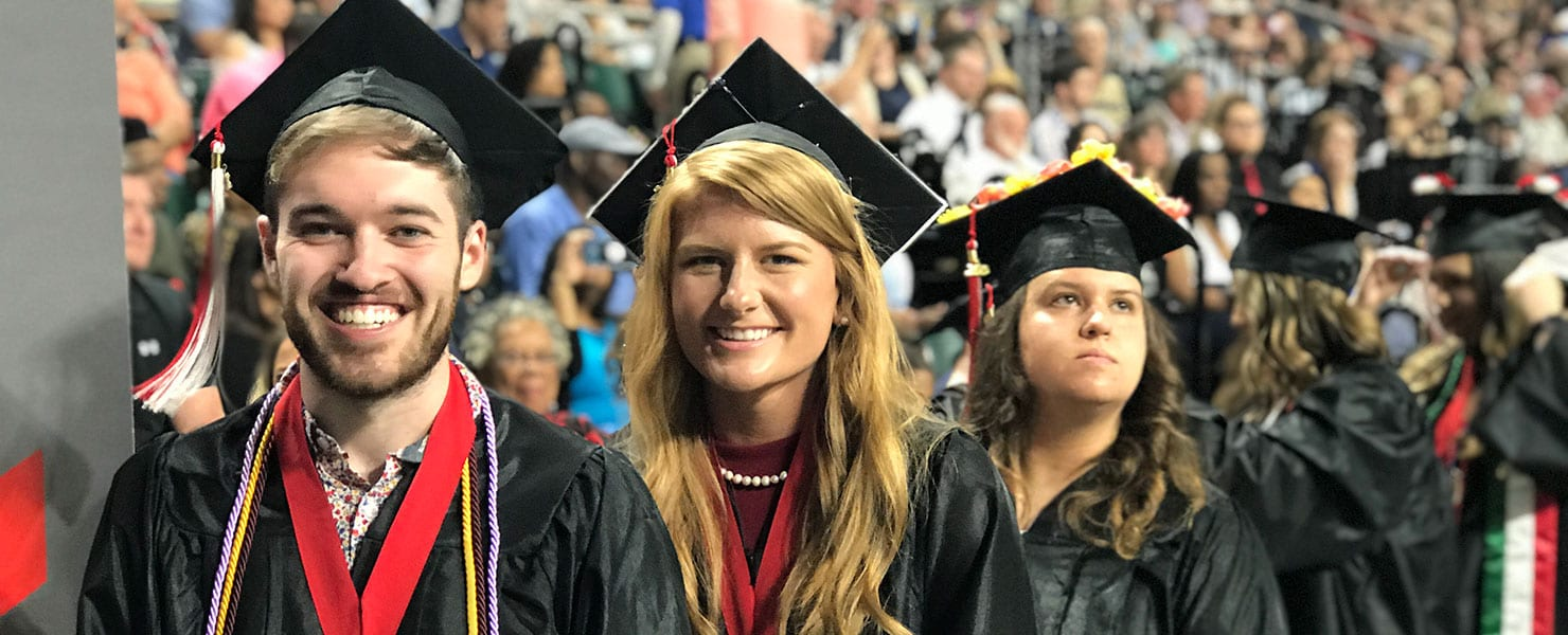 Maryville graduates getting ready to be awared their diploma
