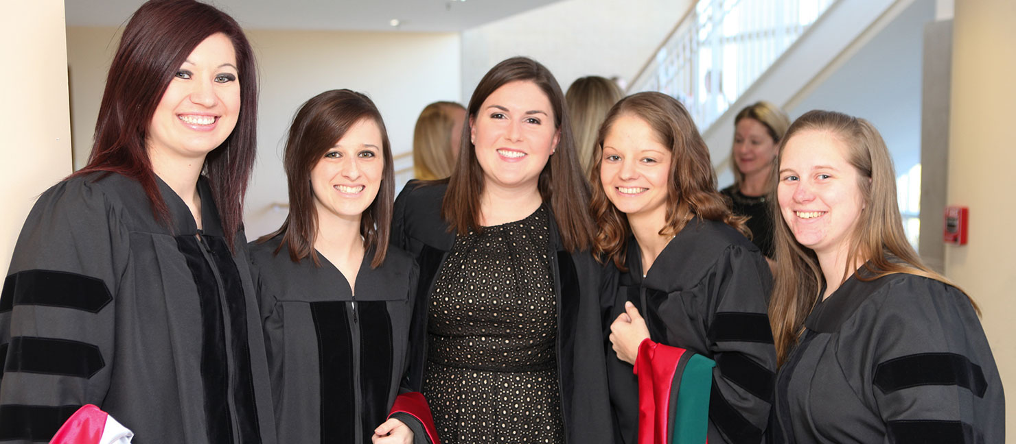 Doctor of Physical Therapy students at hooding ceremony