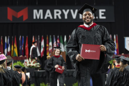 Maryville University's commencement at The Family Arena on May 5, 2019.