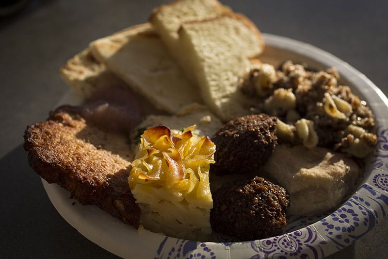 Plate of food from the Jewish Food Festival