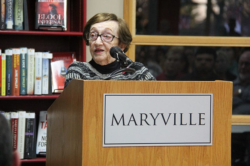 Holocaust survior Sonia Klein speaks at Maryville