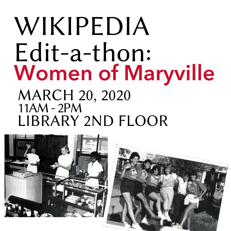 maryville library events poster