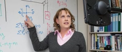 Candace Chambers, Maryville University professor of chemistry, receives the 2016 Teaching with Technology Award