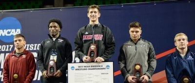 Saints Wrestler Nate Rodriguez wins national championship