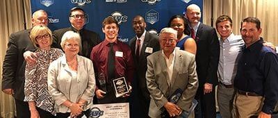 nate rodriguez earns GLVC male athlete year award