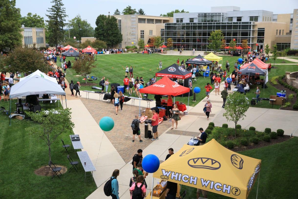 involvement fair at maryville university