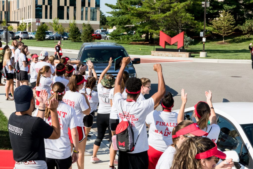 Maryville University welcomes new students to campus