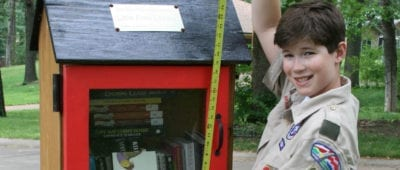An Eagle Scout built a book repository for the Walker Scottish Rite Clinic.