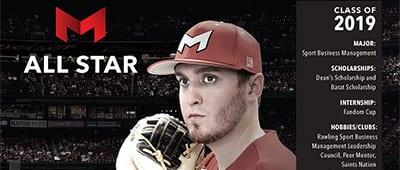 Maryville University All-Star student Trenton Schumer