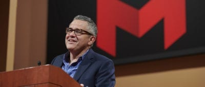 Jeffrey Toobin at Maryville University on October 24, 2017.