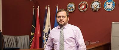 Thomas Wolff, '14, works as a veteran service coordinator for MERS/Goodwill in St. Louis