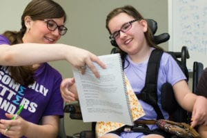 The Aphasia Communication Theater (ACT), an innovative production implemented last summer by graduate students in Maryville's Speech-Language Pathology program
