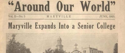 A student newspaper from the Maryville University Archives