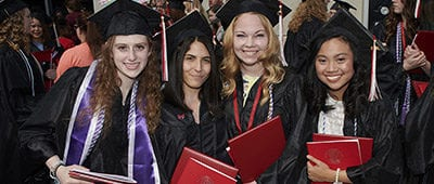 Students at Maryville commencement 2018