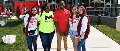 Students ready for Move In Day 2018