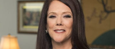 Kathleen Zellner, civil rights attorney, receives the Sister Mary Byles Peace and Justice Prize presented by Maryville University.