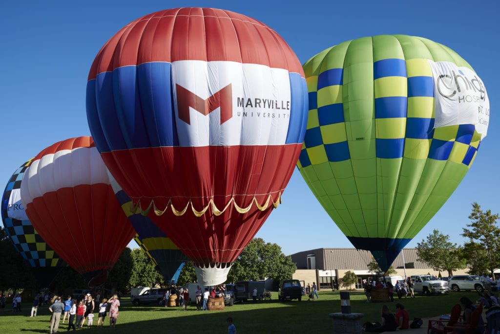 Air balloons at Maryville University