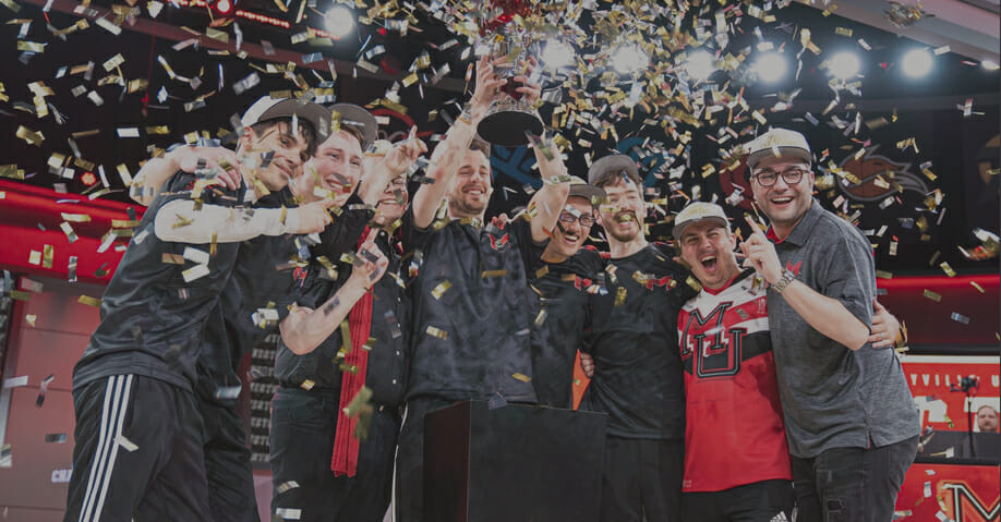 Maryville esports team winning its second national title in LoL