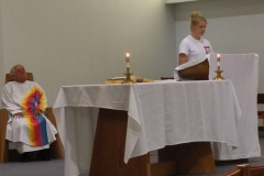 Mass held at Huttig Chapel on the campus of Maryville University