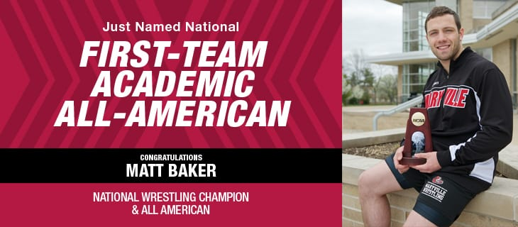 Matt Baker First-Team Academic All-American