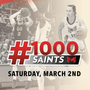 Maryville University's #1000 Saints event on Saturday, March 2