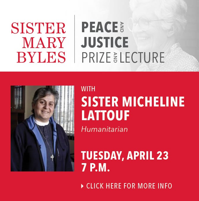 Sister Mary Byles Award featuring Sister Micheline Lattouf