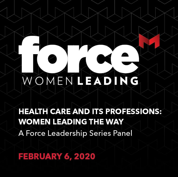 Force Women Leading ad for Feb. 6 event