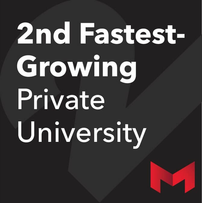 Maryville named 2nd fastest growing university graphic