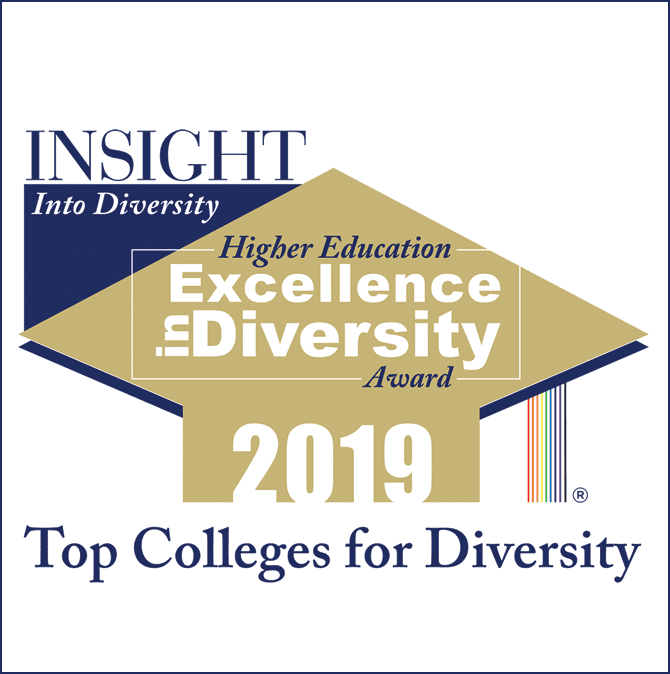 Higher Education Excellence in Diversity Award for 2019 logo
