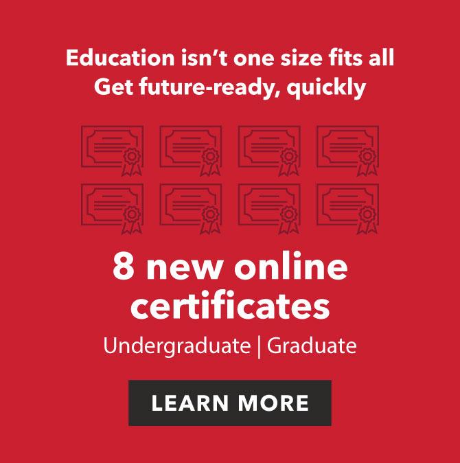 8 new online certificates ad